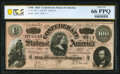 Confederate Notes:1864 Issues, T65 $100 1864 PF-3 Cr. 494 PCGS Banknote Gem Unc 66 PPQ.. ...