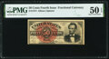 Fractional Currency:Fourth Issue, Fr. 1374 50¢ Fourth Issue Lincoln PMG About Uncirculated 50 EPQ.. ...