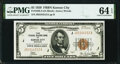 Fr. 1850-J $5 1929 Federal Reserve Bank Note. PMG Choice Uncirculated 64 EPQ
