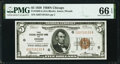 Fr. 1850-G $5 1929 Federal Reserve Bank Note. PMG Gem Uncirculated 66 EPQ
