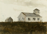 Andrew Newell Wyeth (American, 1917-2009) St. George Watercolor on paper 21-7/8 x 29-3/4 inches (