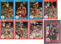 "Basketball Cards:Sets, 1985 Star Co. Court Kings Series Two (25), Slam Dunk (10) & Chicago Bulls Supers (5) 5"" x 7"" Complete Sets Trio (3)...."
