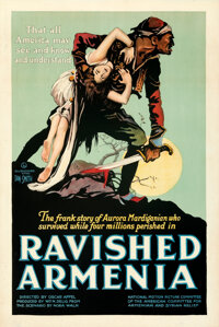 "Ravished Armenia (First National, 1919). Very Fine+ on Linen. One Sheet (27.25"" X 41"") AKA: Auction of Souls..."