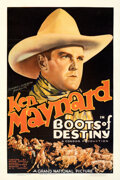 "Movie Posters:Western, Boots of Destiny (Grand National, 1937). Fine+ on Linen. One Sheet (27"" X 41"").. ..."