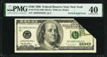 Error Notes:Foldovers, Printed Fold Error Fr. 2175-B $100 1996 Federal Reserve Note. PMG Extremely Fine 40.. ...