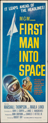 """First Man into Space (MGM, 1959). Folded, Very Fine-. Insert (14"""" X 36""""). Science Fiction"""