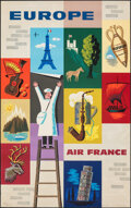 """Movie Posters:Miscellaneous, Air France: Europe (Air France, 1960). Rolled, Very Fine. Travel Poster (24.5"""" X 39.25"""") Jean Carlu Artwork. Miscellaneous...."""