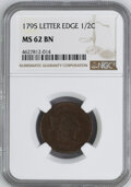 1795 BN Half Cents NGC MS62 Lettered Edge...(PCGS# 1009)