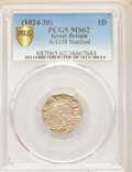 Great Britain:Kings of All England, Great Britain: Kings of All England. Cnut (1016-1035) Penny ND (1024-1030) MS62 PCGS,...