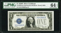 Small Size:Silver Certificates, Fr. 1602 $1 1928B Silver Certificate. X-B Experimental. PMG Choice Uncirculated 64 EPQ.. ...