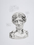 Prints & Multiples, Daniel Arsham (b. 1980). Eroded Classical Prints (Portfolio of 3 Prints), 2020. Screenprints in colors on Archival Cotto... (Total: 2 Items)