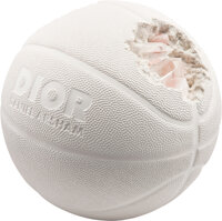 Daniel Arsham X Dior Eroded Basketball (Dior Edition), 2020 Hydrostone and quartz crystals 8-1/2