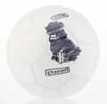 Collectible, Daniel Arsham (American, b. 1980). 2019 International Champions Cup Hand Illustrated Football, 2019. Marker on soccer ba...