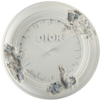 Daniel Arsham X Dior Eroded Clock, 2020 Hydrostone and quartz crystals 11 x 11 x 1-3/8 inches (27