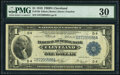 Large Size:Federal Reserve Bank Notes, Fr. 720 $1 1918 Federal Reserve Bank Note PMG Very Fine 30.. ...