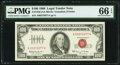 Small Size:Legal Tender Notes, Fr. 1550 $100 1966 Legal Tender Note. PMG Gem Uncirculated 66 EPQ.. ...
