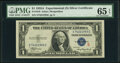 Small Size:Silver Certificates, Fr. 1610 $1 1935A S Silver Certificate. PMG Gem Uncirculated 65 EPQ.. ...