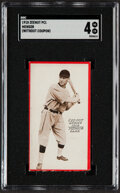 Baseball Cards:Singles (Pre-1930), 1918 E137 Zeenut Ed Mensor SGC VG/EX 4 - Only Three Graded Cards on PSA & SGC Census Combined! ...