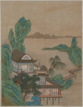Works on Paper, A Set of Twelve Chinese Album Leaves. Marks to one: Signed Zhao Boju and with one red seal. 13-1/8 x 10-1/4 inches (33.3... (Total: 12 Items)