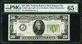 Fr. 2054-J $20 1934 Light Green Seal Federal Reserve Note. PMG Gem Uncirculated 65 EPQ