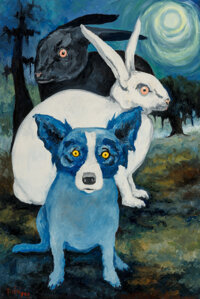 George Rodrigue (American, 1944-2013) The Land of Unknown (Don't Turn Your Back on Your Troubles 'Cause They Ju