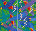 Paintings, Billy Hassell (American, b. 1956). Red Wings in a Storm (diptych). Oil on canvas. 62-1/2 x 36 inches (158.8 x 91.4 cm) (... (Total: 2 )