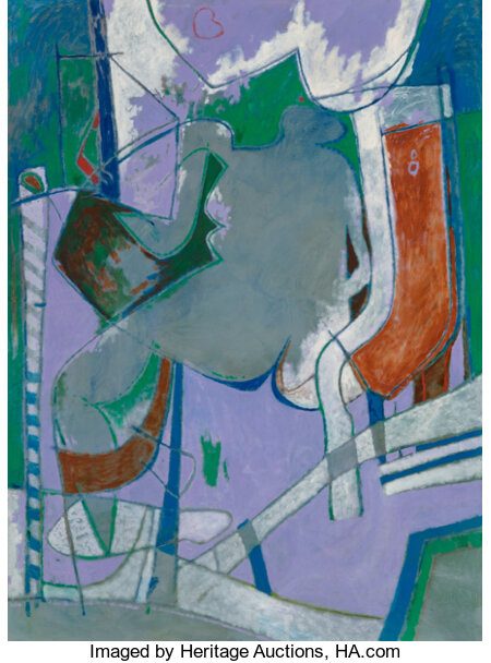 Otis Huband (American, b. 1933) Icon, 2000 Oil on canvas 56-1/2 x 42 inches (143.5 x 106.7 cm) Signed and dated lowe...