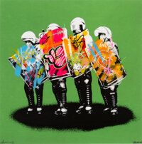 Martin Whatson (b. 1984) Love Cops (Remix Green), 2013 Screenprint in colors with acrylic hand-embel