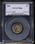 Proof Indian Cents: , 1860 1C PR66 PCGS. Rounded Bust. While the total mintage ...