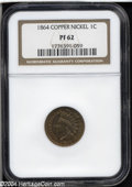 Proof Indian Cents: , 1864 1C Copper-Nickel PR62 NGC. Fully struck and well ...
