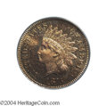 Proof Indian Cents: , 1875 1C PR65 Red PCGS. One of approximately 700 proof ...