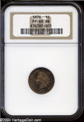 Proof Indian Cents: , 1876 1C PR65 Red and Brown NGC. Reddish-brown toning is ...