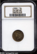Proof Indian Cents: , 1880 1C PR64 Red NGC. Coppery-red patina adheres to each ...