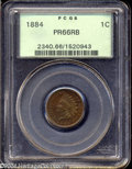 Proof Indian Cents: , 1884 1C PR66 Red and Brown PCGS. Exceptionally well ...