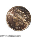 Proof Indian Cents: , 1896 1C PR66 Red PCGS. This issue has the lowest proof ...