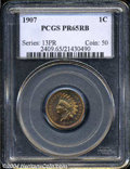 Proof Indian Cents: , 1907 1C PR65 Red and Brown PCGS. This is a splendid Gem ...