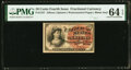 Fractional Currency:Fourth Issue, Fr. 1257 10¢ Fourth Issue PMG Choice Uncirculated 64 EPQ.. ...