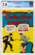 Golden Age (1938-1955):Superhero, Detective Comics #101 (DC, 1945) CGC FN/VF 7.0 Cream to off-white pages....
