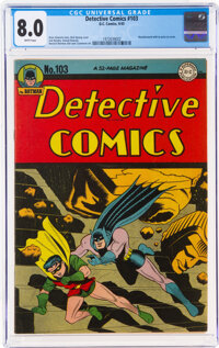 Detective Comics #103 (DC, 1945) CGC VF 8.0 White pages