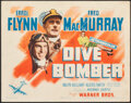 """Movie Posters:Action, Dive Bomber (Warner Bros., 1941). Very Fine-. Title Lobby Card (11"""" X 14""""). Action.. ..."""