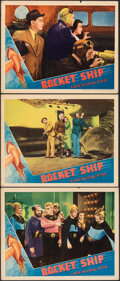 """Movie Posters:Science Fiction, Rocket Ship (Universal, 1938). Fine/Very Fine. Lobby Cards (3) (11"""" X 14""""). Science Fiction.. ... (Total: 3 Items)"""
