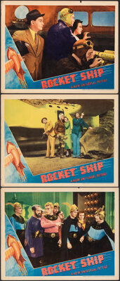 "Rocket Ship (Universal, 1938). Fine/Very Fine. Lobby Cards (3) (11"" X 14""). Science Fiction. ... (Total: 3 Ite..."