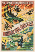 """Movie Posters:Documentary, Under the Red Sea (RKO, 1952). Fine- on Linen. One Sheet (27"""" X 41""""). Documentary.. ..."""