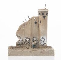 After Banksy Defeated Souvenir Wall Section, 2017 Painted cast resin 5 x 4-1/2 inches (12.7 x 11