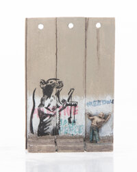 After Banksy Souvenir Wall Section, 2017 Painted cast resin 3-1/2 x 2-1/2 inches (8.9 x 6.4 cm)<