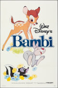 """Movie Posters:Animation, Bambi & Other Lot (Buena Vista, R-1982). Folded, Overall: Very Fine. One Sheet (27"""" X 41""""), Title Lobby Card (11"""" X 14""""), & ... (Total: 5 Items)"""
