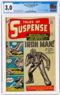 Tales of Suspense #39 (Marvel, 1963) CGC GD/VG 3.0 White pages