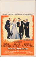 """Movie Posters:Musical, High Society (MGM, 1956). Very Fine-. Window Card (14"""" X 22""""). Musical.. ..."""