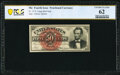 Fractional Currency:Fourth Issue, Fr. 1374 50¢ Fourth Issue Lincoln PCGS Banknote Uncirculated 62.. ...