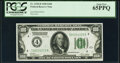 Small Size:Federal Reserve Notes, Fr. 2150-D $100 1928 Federal Reserve Note. PCGS Gem New 65PPQ.. ...